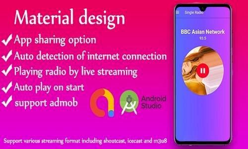 Single Radio android Radio app + admob v1.0