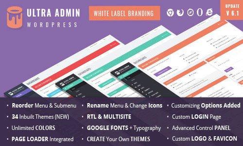 Ultra WordPress Admin Theme v9.1