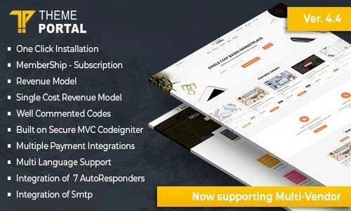 Theme Portal Marketplace v4.4 - Sell Digital Products ,Themes, Plugins ,Scripts - Multi Vendor