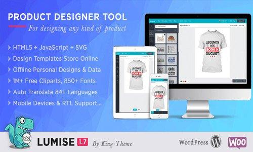 Lumise Product Designer v1.8 - WooCommerce WordPress