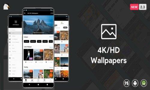 4K/HD Wallpaper Android App (Google Material Design + Admob + Firebase Push Noti + PHP Backend) v2.8