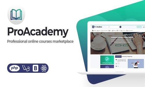 Proacademy v1.3 - LMS & Online Courses Marketplace