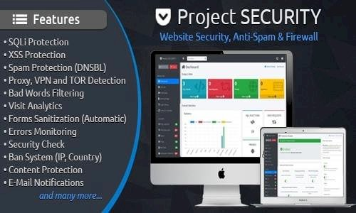 Project SECURITY v4.0 – Website Security, Anti-Spam & Firewall