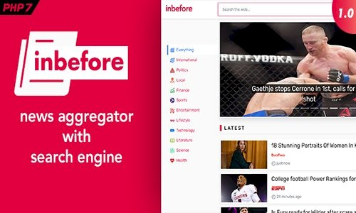 InBefore v1.0.2 - News Aggregator with Search Engine