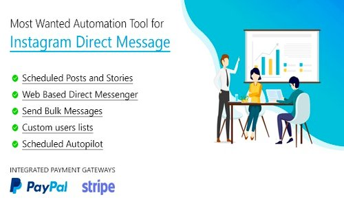 DM Pilot v4.0.1 - Instagram Most Wanted Automation Tool for Direct Message & Scheduled Posts