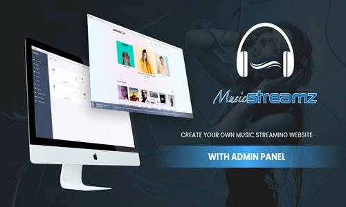 Streamz v1.0 - A music streaming website with admin panel