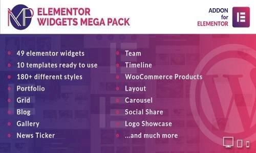 Elementor Widgets Mega Pack v1.0 - Addons for Elementor Page Builder WordPress Plugin